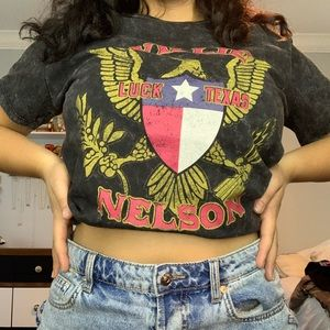 Willie nelson distressed tee
